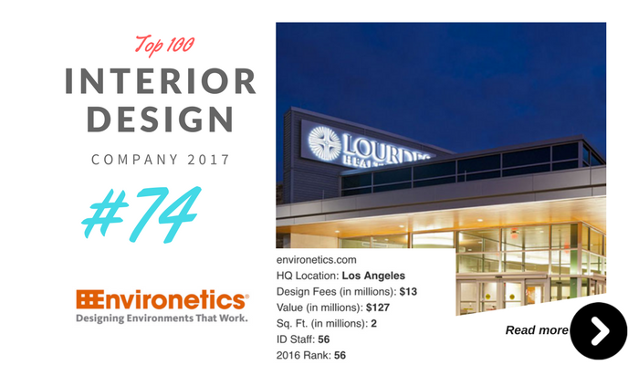 top 100 interior design company Environetics