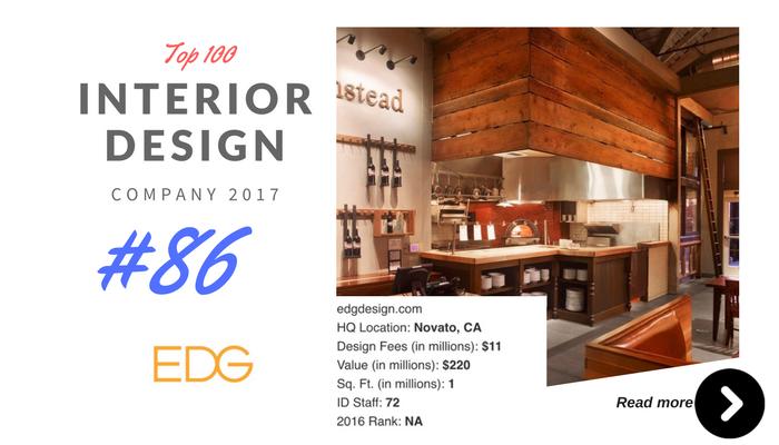 top 100 interior design company EDG