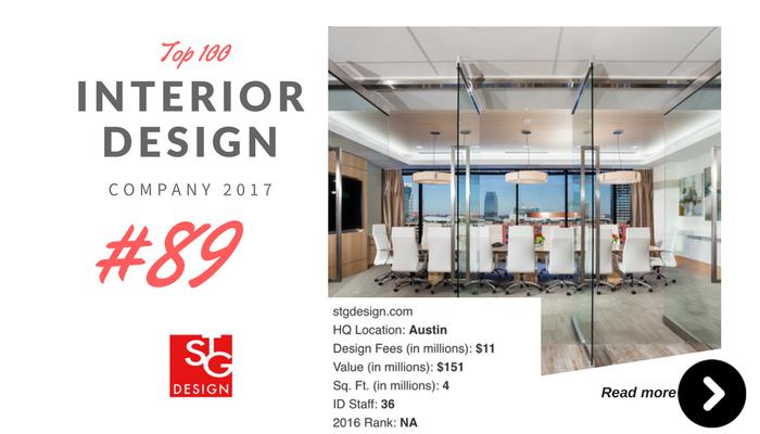 top 100 interior design company STG
