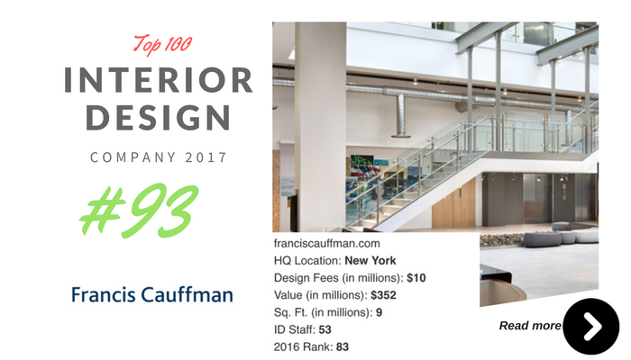 top 100 interior design company Francis cuffman