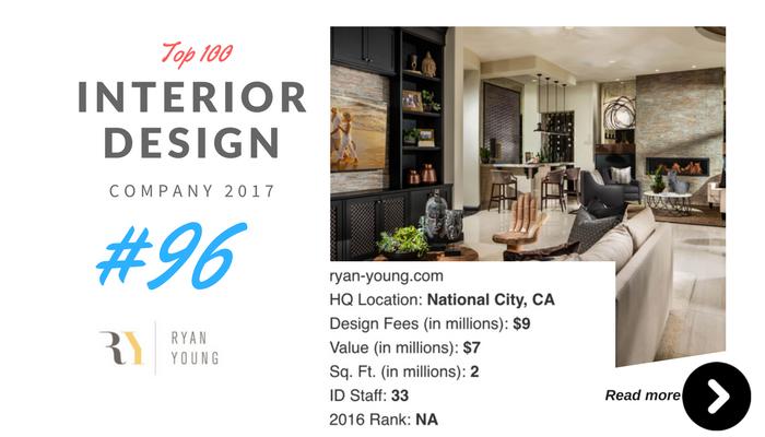 top 100 interior design company Ryan young