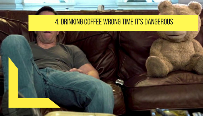 drinking coffee wrong time