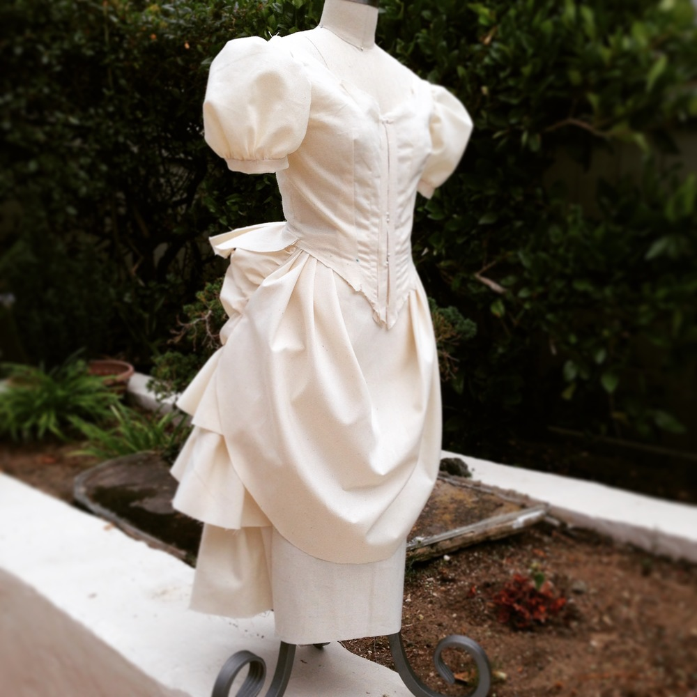 Fun with Half Scales - an 1880s Victorian Bustle Gown — Ashley and ...