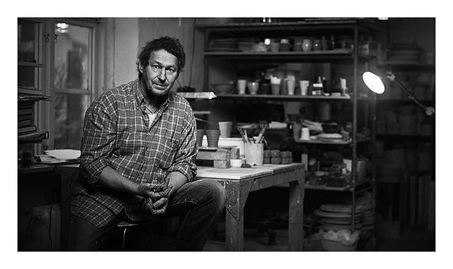 Portrait of @krukmakaren for @hus13  #pottery #portrait @superstudio
