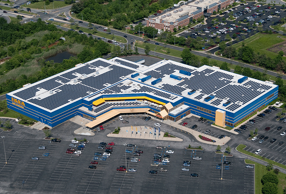 IKEA 18 sites | 11 states Over 17 MW total PROJECT DETAILS Beginning in 2010, REC Solar has designed and installed 18 rooftop solar PV systems at IKEA facilities across the United States. This represents over 17 MW, or approximately 50%, of their solar portfolio and will help IKEA achieve their goal to reduce facility carbon emissions.
