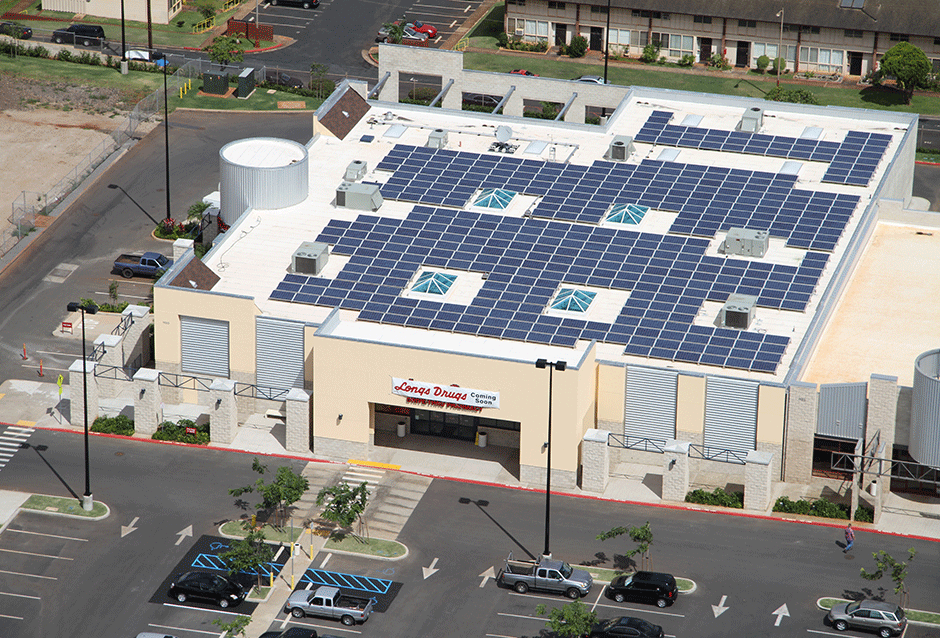 CVS/Longs Drug Store Kauai, Pearl City | HAWAII 205 kW total PROJECT DETAILS In 2008, Longs Drug Store, now CVS, procured solar for multiple sites in Hawaii. REC Solar was awarded and has now completed two solar photovoltaic systems on the islands. These projects are part of CVS' plan to integrate solar into their corporate approach toward renewable energy.