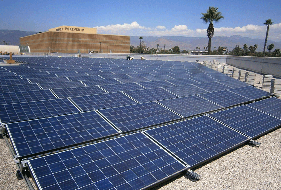 Macerich Malls 2 sites | CALIFORNIA Over 1.8 MW total PROJECT DETAILS In July of 2013, REC Solar was given Notice to Proceed to design and install a 1.2 MW roof mount solar system at the Macerich Malls Inland Center in San Bernardino, California. The system was installed using AU Optronics EcoDuo panels and Advanced Energy 333NX and 250NX inverters and was completed in January 2014. An additional system was awarded to REC Solar located at The Oaks mall in Thousand Oaks and was completed in September of 2014.