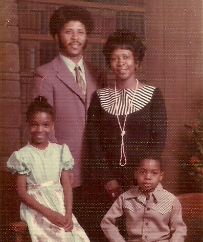The Williams family, circa 1976