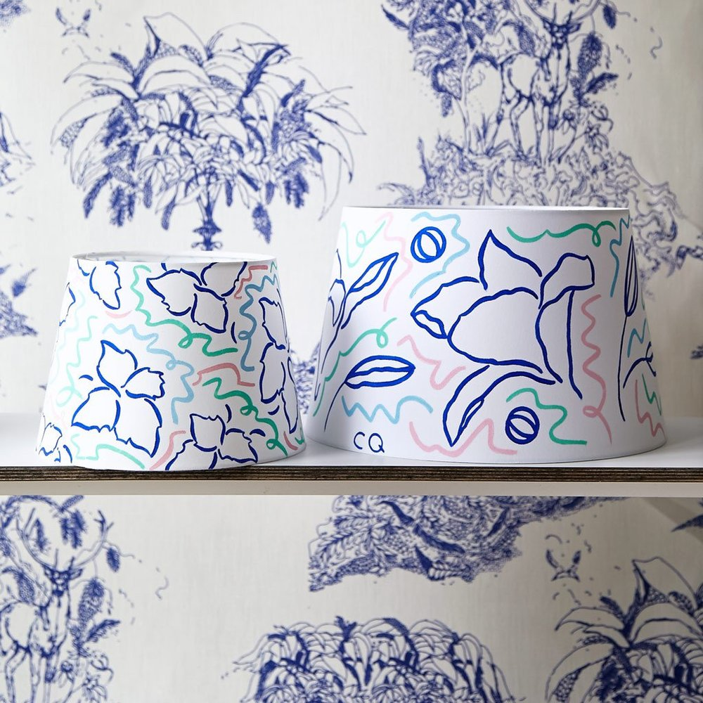 Tropical print homewares and interiors blog on katiecharleson.com