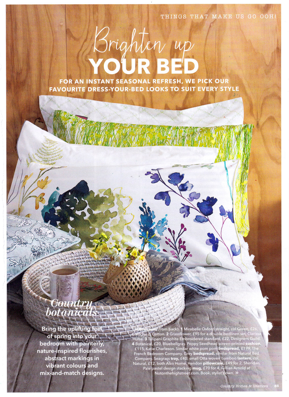 Poppy Seedhead cushion in Country Homes & Interiors April2018