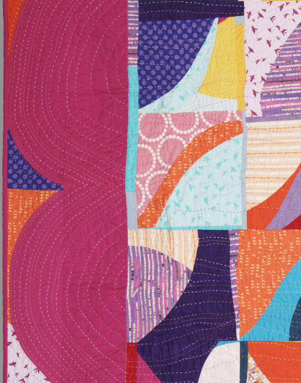 hand-quilting detail