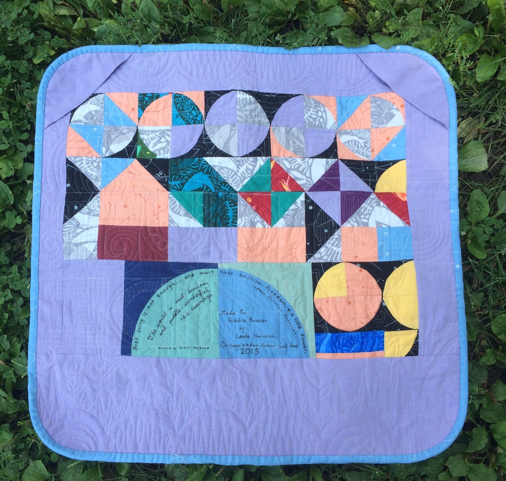 Back of quilt.