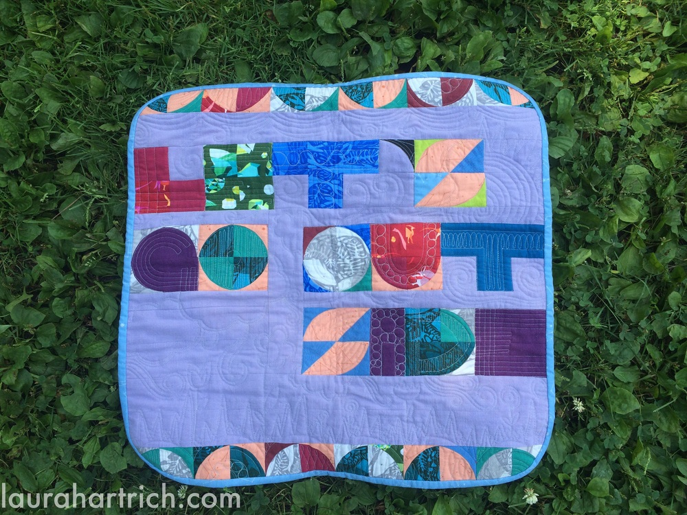 "Mini quilt for Giedra, measuring about 24"" square."