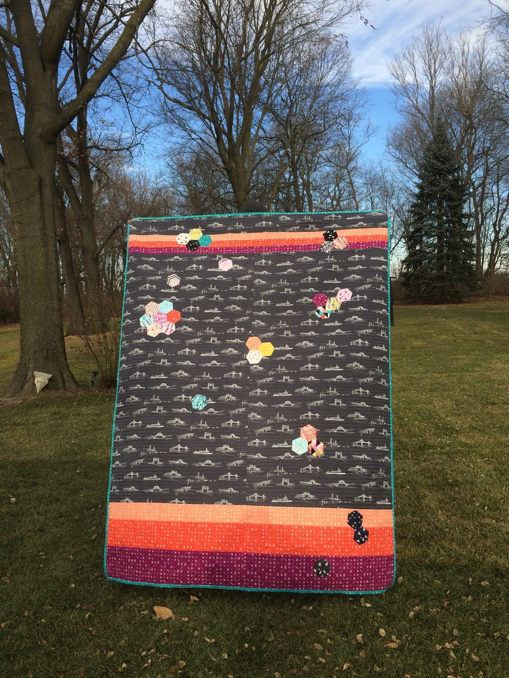Finished Popcorn quilt