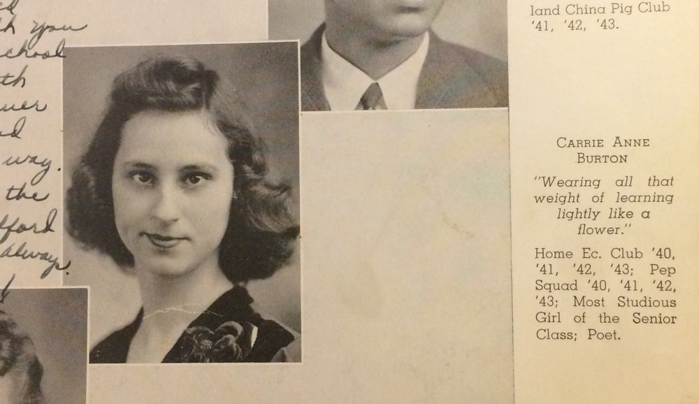 my grandma's high school yearbook.  I love her quote.