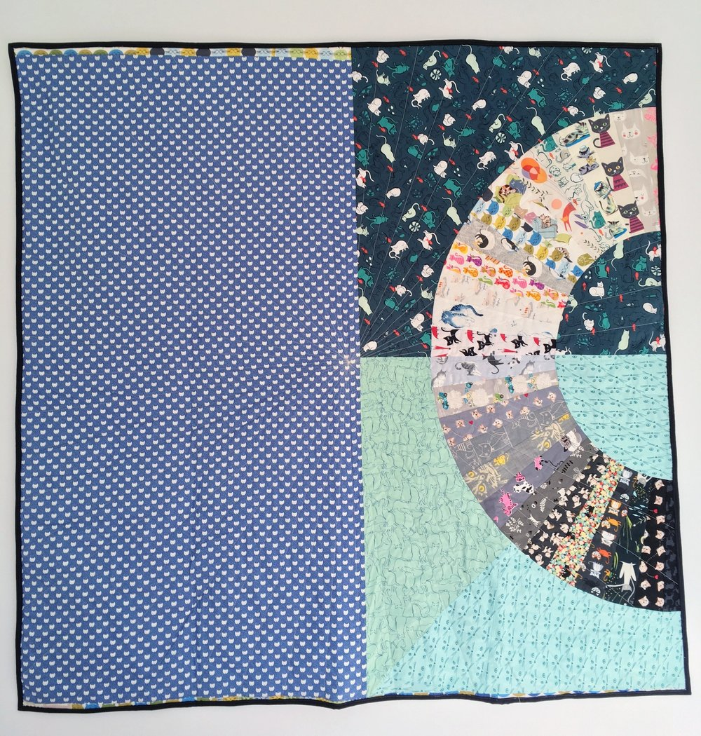 Back of Kitty Color Wheel Quilt