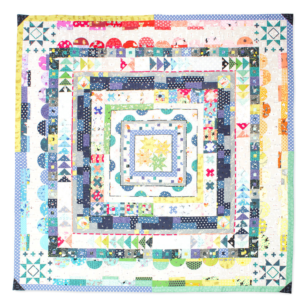 All Cat Everything medallion quilt