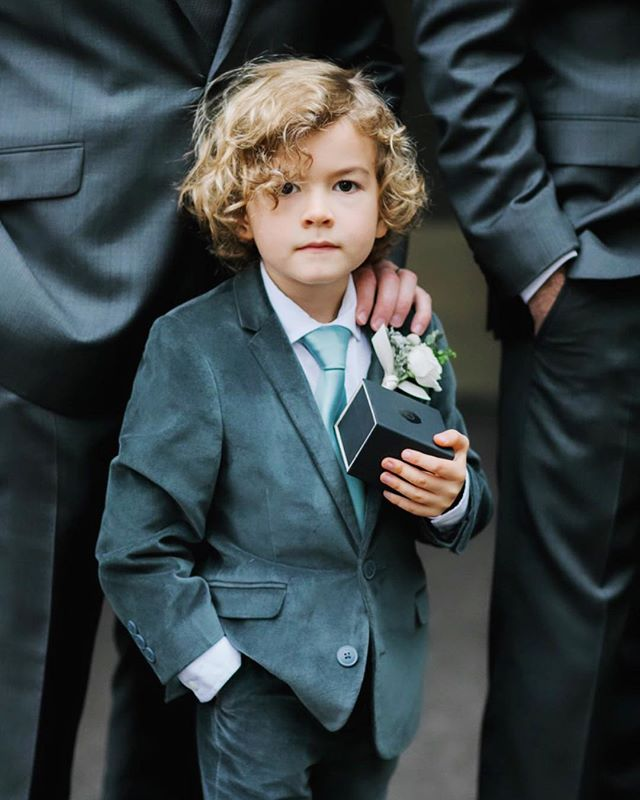When your ring bearer is this cute, he deserves his own Instagram post.