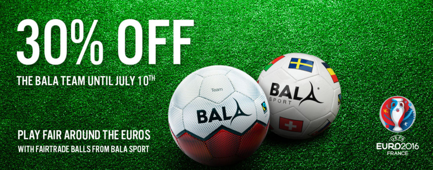 http://www.balasport.co.uk/euro-2016/ 30% off until 10th July 2016