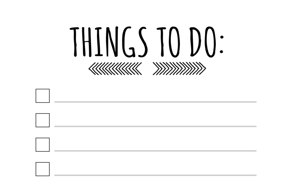 Things-to-do pad -   Not a digital tool but I'm obsessed with making lists!