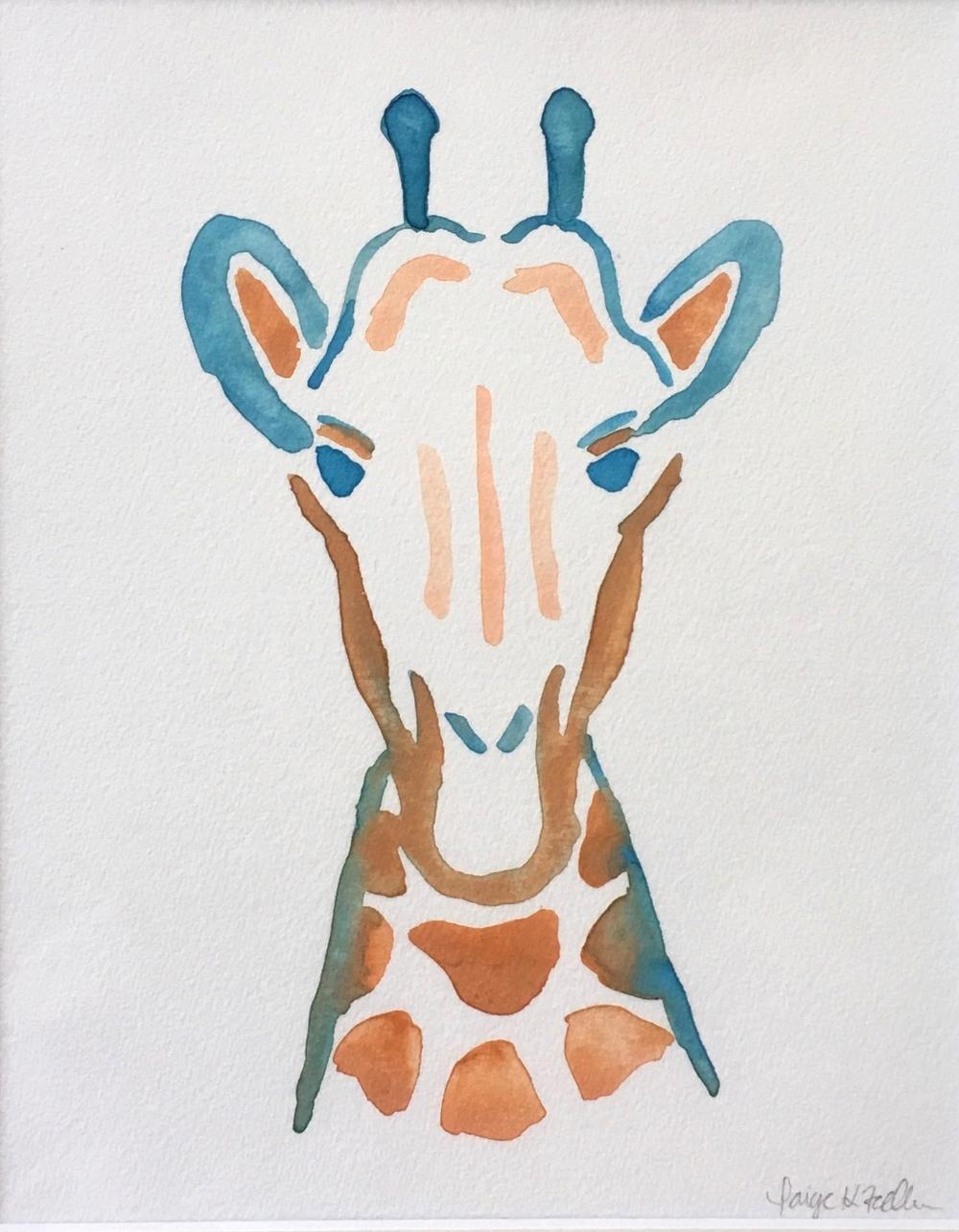 """""""Gee-Gee"""" the Blue Giraffe"""
