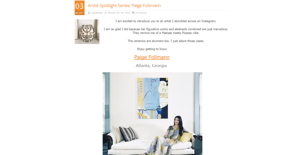 The English Room - Artist Spotlight Series - Paige Follmann