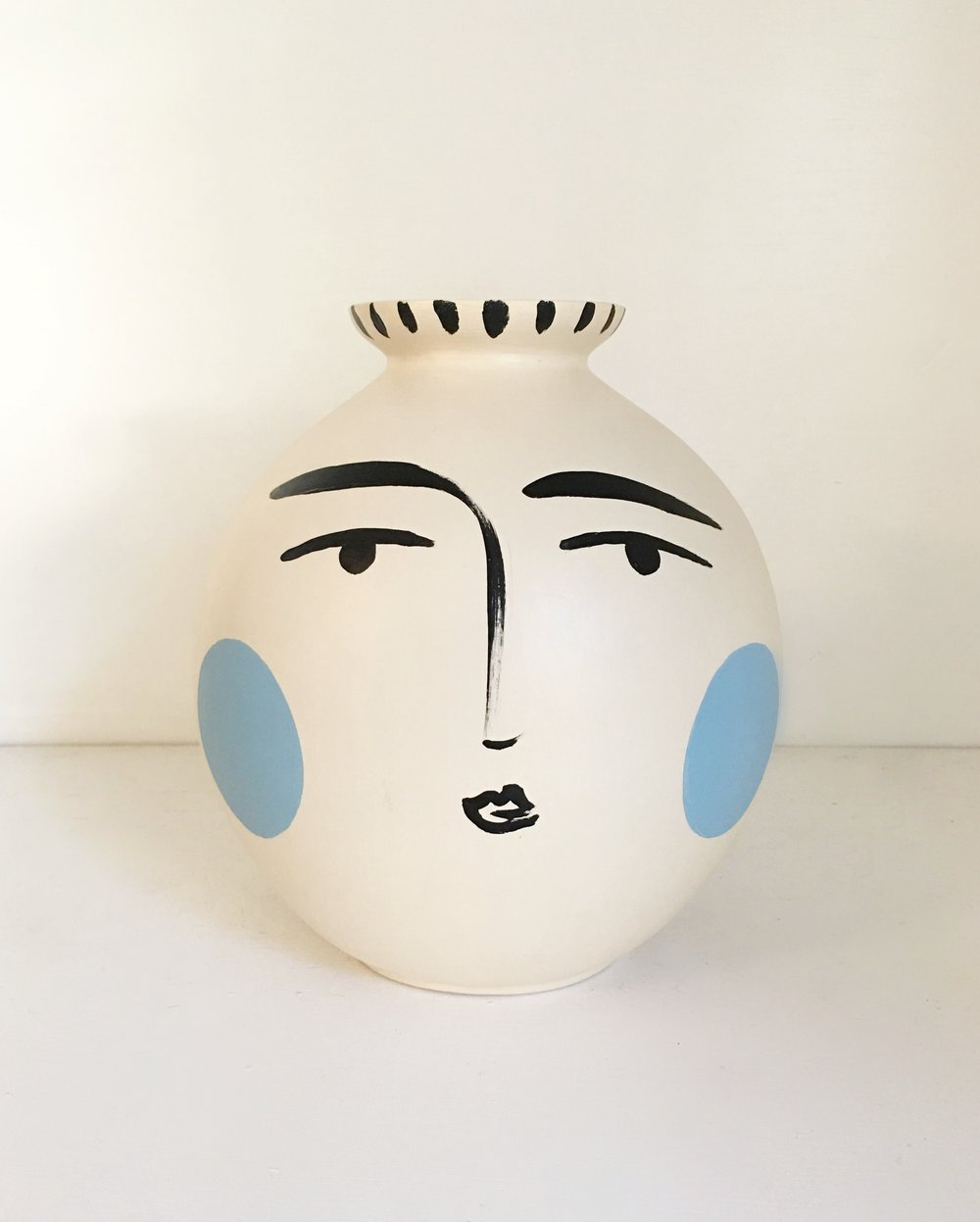 Blushing Blue Vase - Available at Quogue Gallery