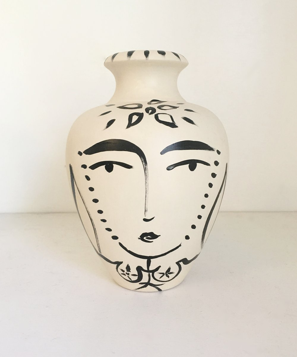 Sacred Femme Lipped Vase II - Available at Miller Gallery