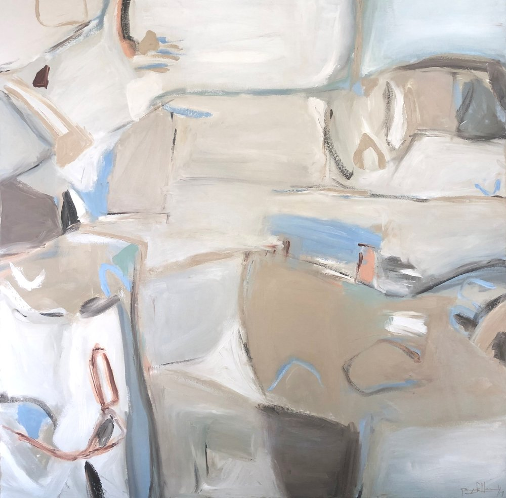 Continuum Series Blanc I  - 48x48 Available