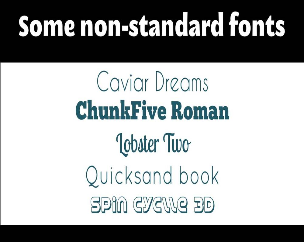Examples from FontSquirrel