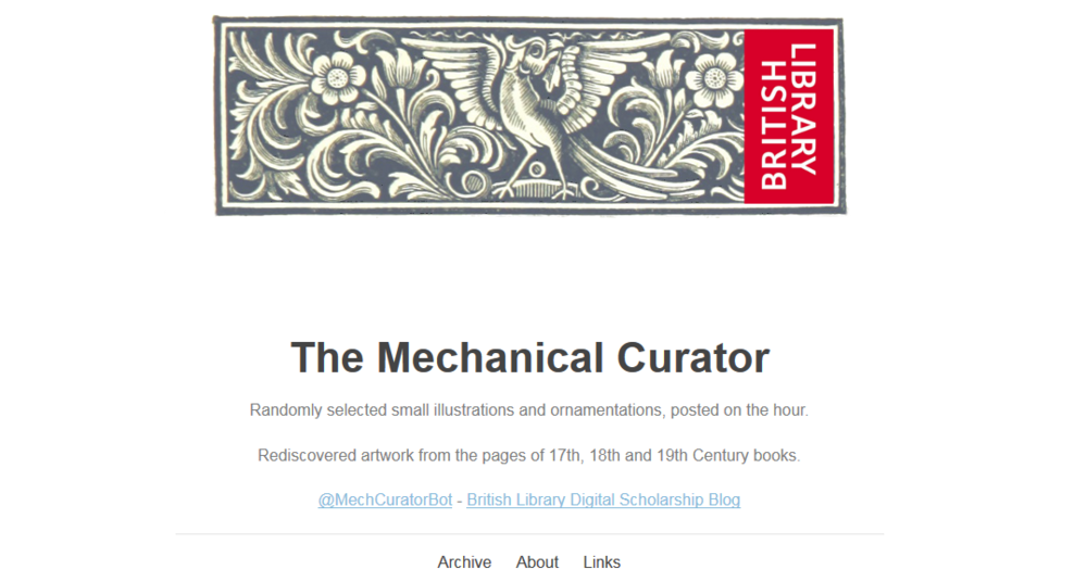 Click the pic to open The Mechanical Curator Tumblr in a new window. Go and explore it! I'll happily wait.