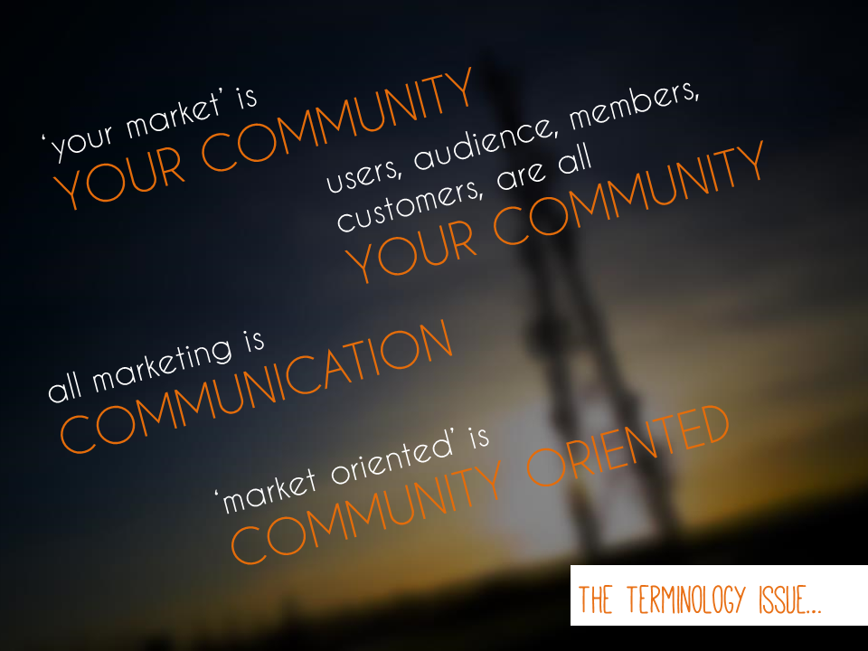 A slide from my marketing workshop. Click to view CC version on Flickr