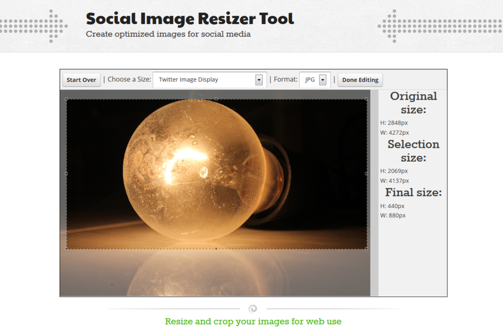 Click to go to open the Image Resizer Tool in a new window