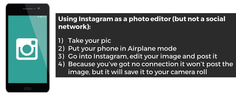 How to use Instagram as a photo editor
