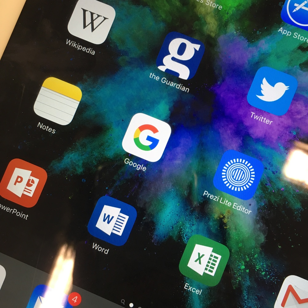 STEP 1: Use your phone to take a picture of the Google app icon on a tablet