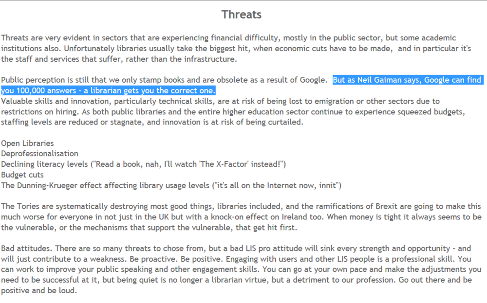 An excerpt from a crowd-sourced LibFocus article - click the image to read the full thing