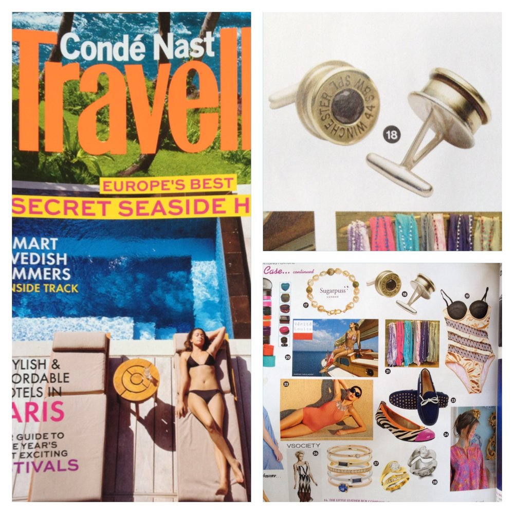 GUNSLINGER CUFFLINKS FEATURED IN CONDE NASTE'S TRAVELLER