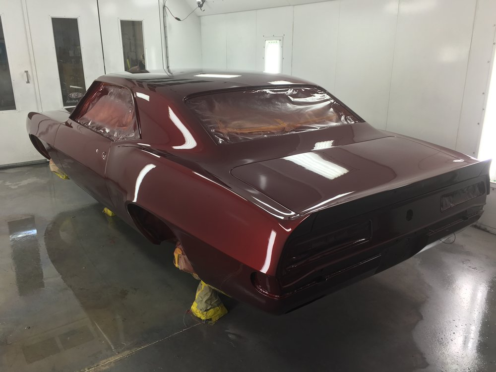 1969 Chevy Camaro - In the Paint Booth