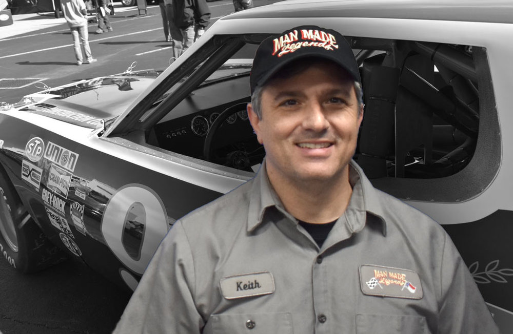 "Keith Sultana: Owner - Keith's passion for cars was instilled within him at an early age. Born in Warren, MI. Keith was a stone's throw away from ""Motor City"". His first major exposure to cars was at the Woodward Dream Cruise and Autorama where thousands of people from around the world bring their hot rods for display and cruising. Keith is passionate about prewar hot rods, vintage racing and resto-mods. His first car was a '71 Nova.During the day, Keith has established a long career in Manufacturing with Ingersoll-Rand and General Electric. At night, he loves to research restoration projects and working around the shop.He is co-owner of Man Made Legends with his wife Leslie. They have 3 boys and live in Davidson, NC. When Keith isn't dreaming up ideas for hot rods or working at either job, he enjoys fishing."
