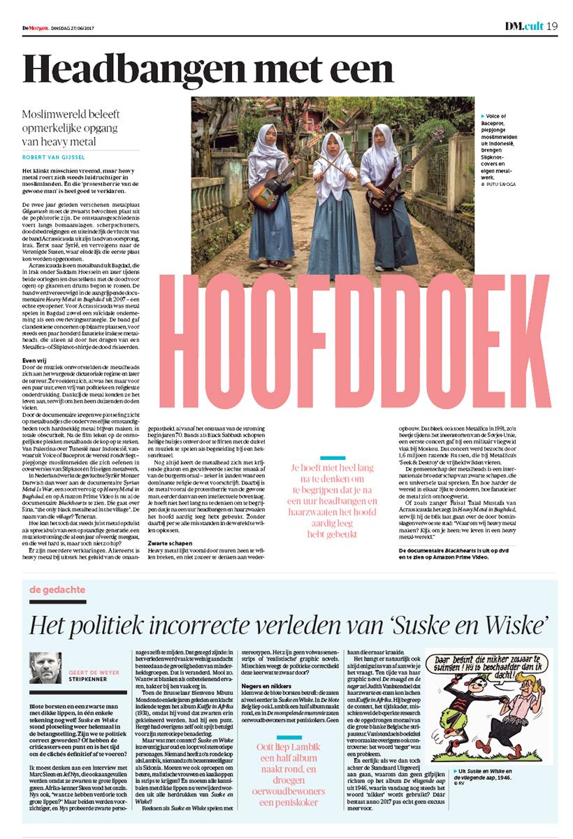 De Morgen,June 27, 2017.
