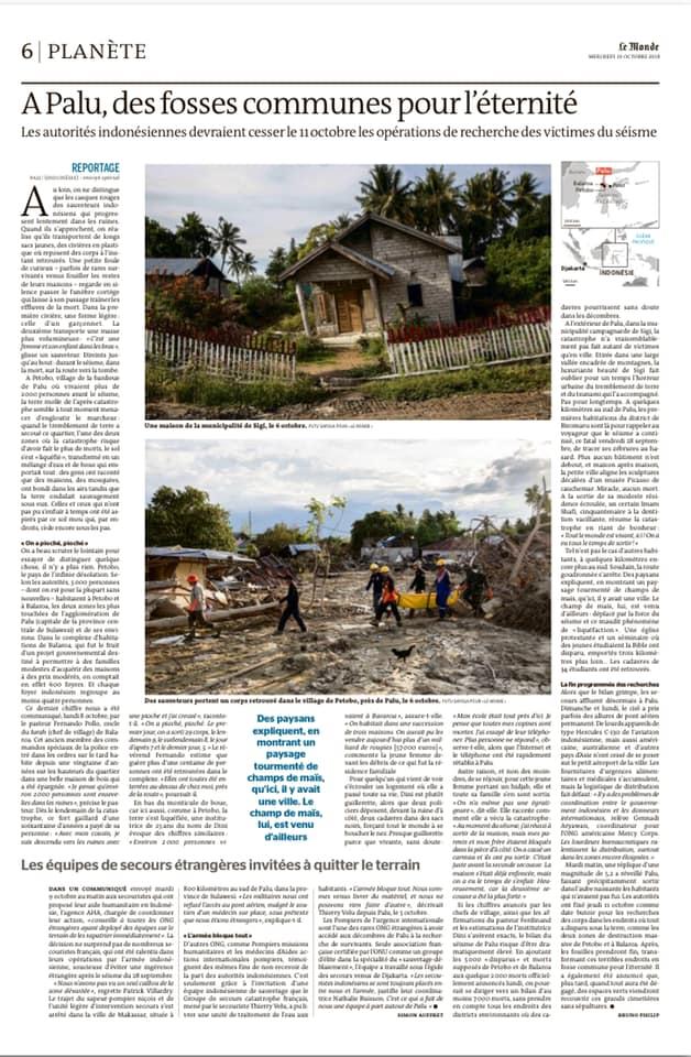 Le Monde, Oct 9, 2018.