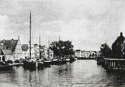 """The Rijn, Facing East (Leiden)"" by Mary D. Ott"