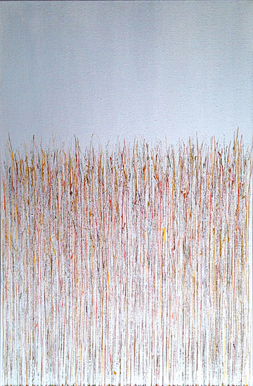 """Silvery Autumn"" 36in x 24in Acrylic by Mary D. Ott"