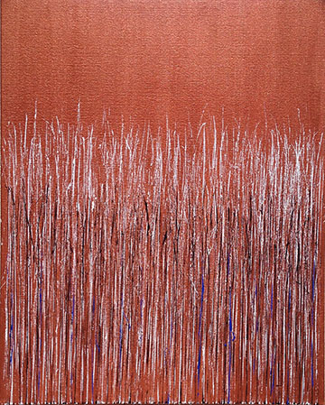 """Copper II"" 30in x 24in Acrylic by Mary D. Ott"