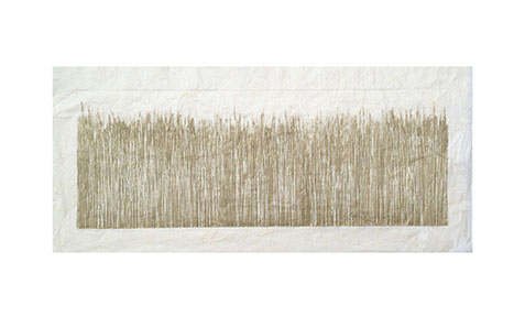 """Wide Grass XXXIV"" 16in x 28in Etching with Aquatint by Mary D. Ott"