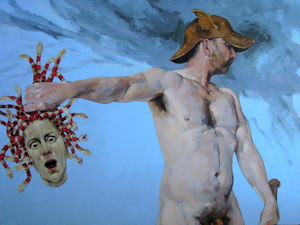 """Perseus with the head of Medusa…Look away, now!"" Acrylic on canvas"
