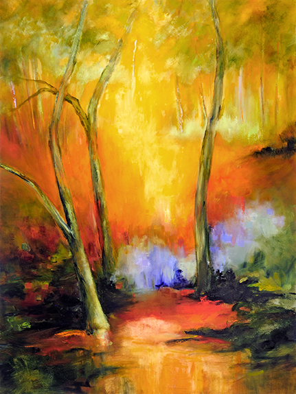 "FOREST LIGHT  Oil on Canvas, 36"" x 40"""