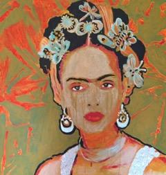 "Frida  Acrylic on canvas 24"" x 24"""