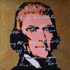 Thomas Jefferson -SOLD  Acrylic on canvas 24′′ x 24′′