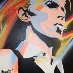 "David Bowie  Acrylic on canvas 24"" x 24"""